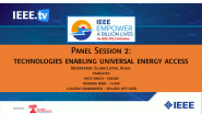 Panel Session 2: Technologies Enabling  Universal Energy Access - 2021 Virtual Energy Access Workshop and EBL-2
