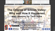 The Origins of Silicon Valley: Why and How It Happened, and Lessons for Tech Hubs