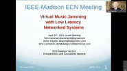 Virtual Music Jamming with Low Latency Networked Systems
