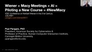 Wiener + Macy Meetings + AI - Dr. Paul Pangaro - IEEE SSIT 21CW2021