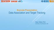 Data Association and Target Tracking - IECON 2020 - Peter Willett