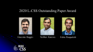 IEEE Control Systems Letters Outstanding Paper Award