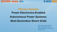 Power-Electronics-Enabled Autonomous Power Systems: Next-Generation Smart Grids - IECON 2020 - Qing-Chang Zhong