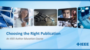 Choosing the Right Publication