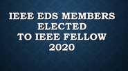 IEEE Electron Devices Society - Fellow Recognitions