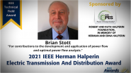 Herman Halperin Award, Brian Stott-PES Awards Ceremony 2021