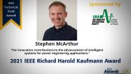 Richard Kaufmann Award, Stephen McArthur-PES Awards Ceremony 2021