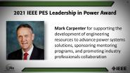 IEEE PES Leadership in Power Award, Mark Carpenter-PES Awards Ceremony 2021
