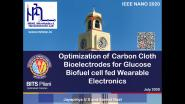 Optimization of Carbon Cloth Bioelectrodes for Enzyme-based Biofuel cell for Wearable Bioelectronics