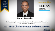 IEEE Charles Steinmetz Award, Haran Karmaker-PES Awards Ceremony 2021