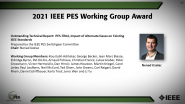 IEEE PES Working Group Awards-PES Awards Ceremony 2021